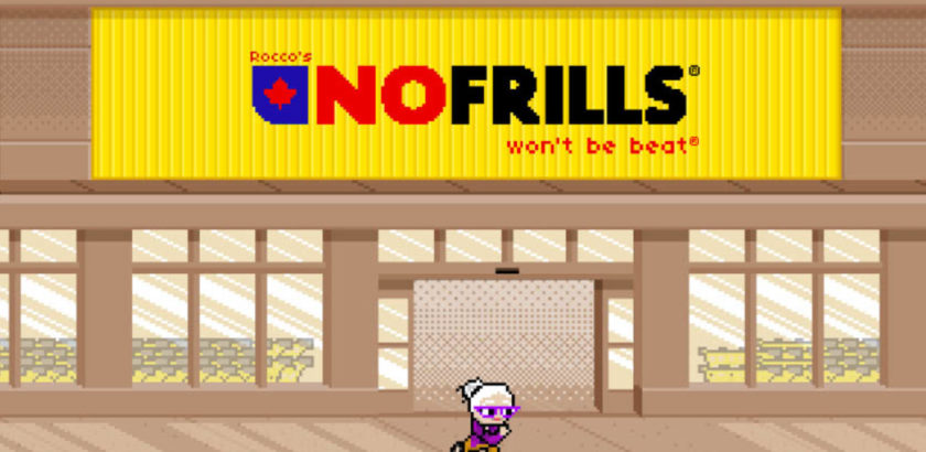 No Frills Grocery 8 Bit Store Front