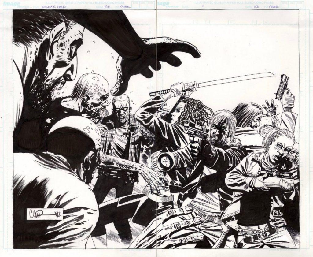 The Walking Dead comic style
